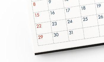 2018年1月の担当医予定表と年末年始の診療について。